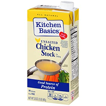 Amazon Kitchen Basics No Salt Chicken Stock 32 Oz Vegetable
