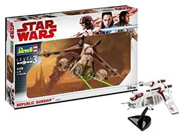 Revell- Star Wars Republic Gunship, Kit modele, Escala 1:172 (03613) (Revell03613)