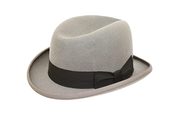 Image Unavailable. Image not available for. Colour  Men s Traditional Wool  Light Grey Homburg Hat 7cd03c7d4fe7