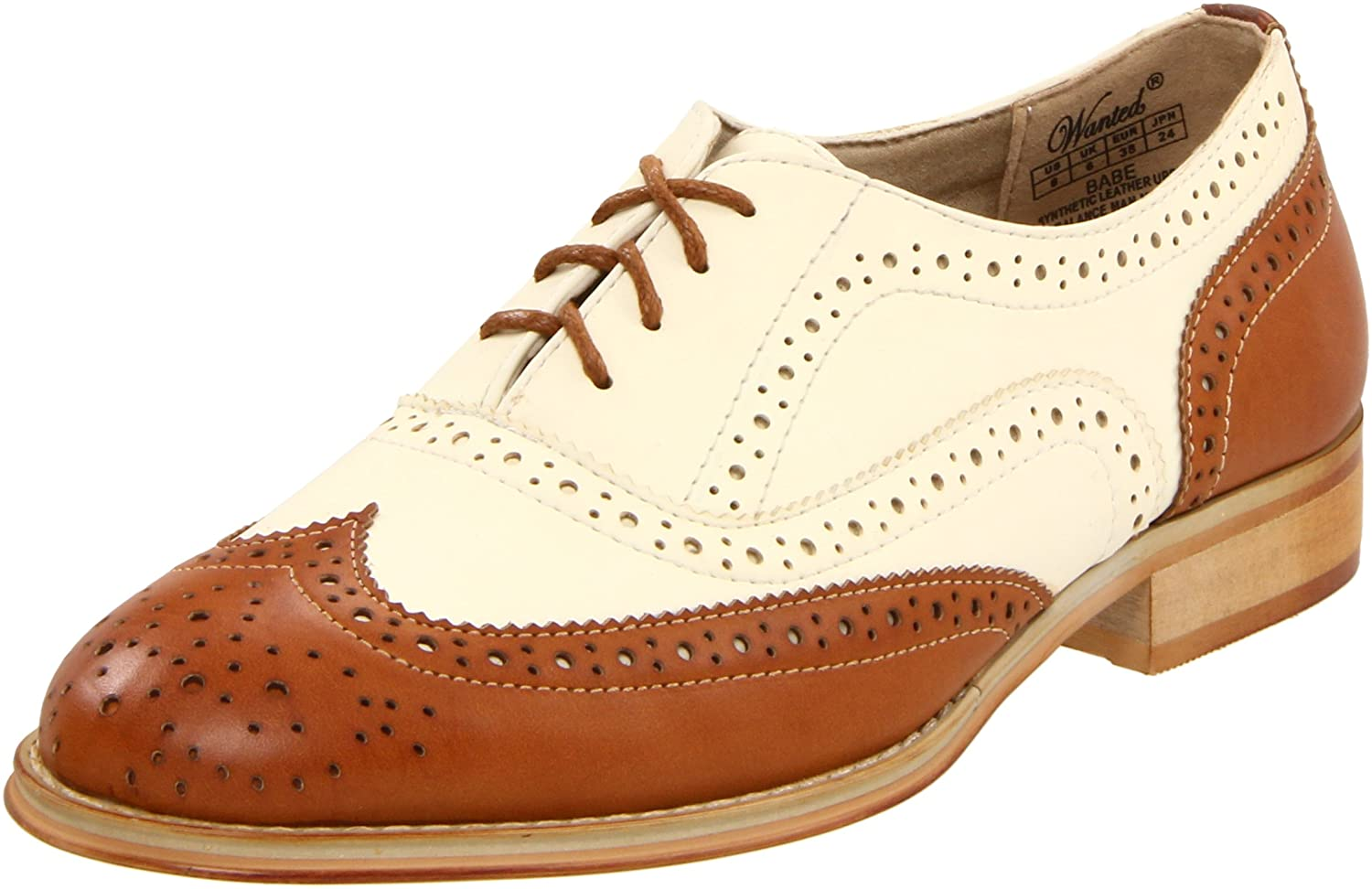 1940s Style Shoes Wanted Shoes Womens Babe Oxford Shoe $59.99 AT vintagedancer.com