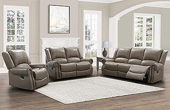 Abbyson Living Matthew 3-Piece Reclining Sofa