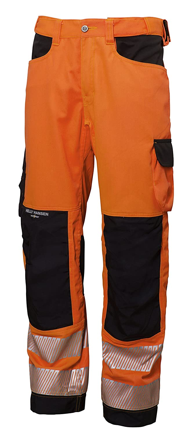 76455/_269-C50 Hi-Vis PantsYork Size In C50 Orange//Charcoal
