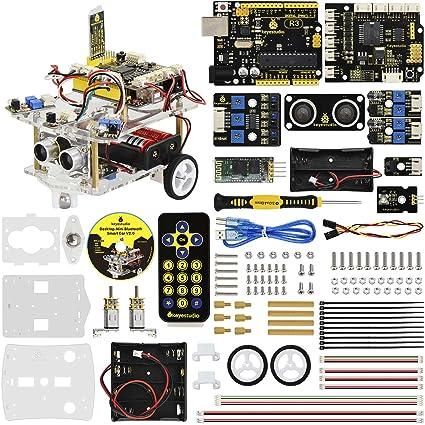 KEYESTUDIO Desktop Mini Robot Car V2 0 for Arduino Education, Electronic  Coding Robotics for Kids Age 12+, Stem Education Kids Toys for Christmas