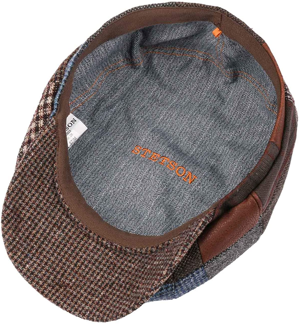 Stetson Gorra Hatteras Patchwork Check Hombre - Made in The EU de ...