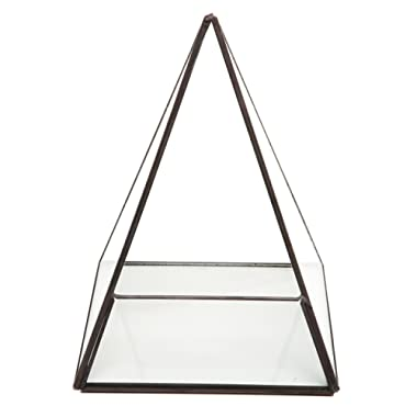 Modern Glass Pyramid Tabletop Succulent Plant Terrarium Box/Air Plant & Cacti Holder Case - MyGift