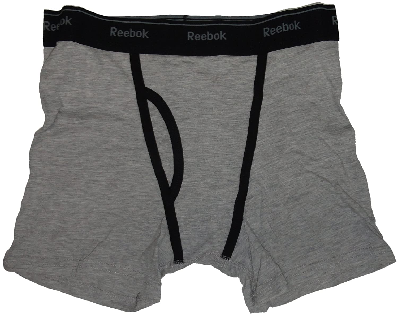 reebok underwear mens. amazon.com: reebok men\u0027s stretch boxer briefs, size small 28/30, black/grey, (pack of 2): sports \u0026 outdoors underwear mens