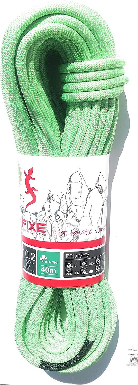 Fixe Roca 10.2 Pro Cuerda de Escalada (40 m), Color Verde
