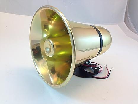 Amazon.com: Único tono latón Colored siren-fbi de alarma ...