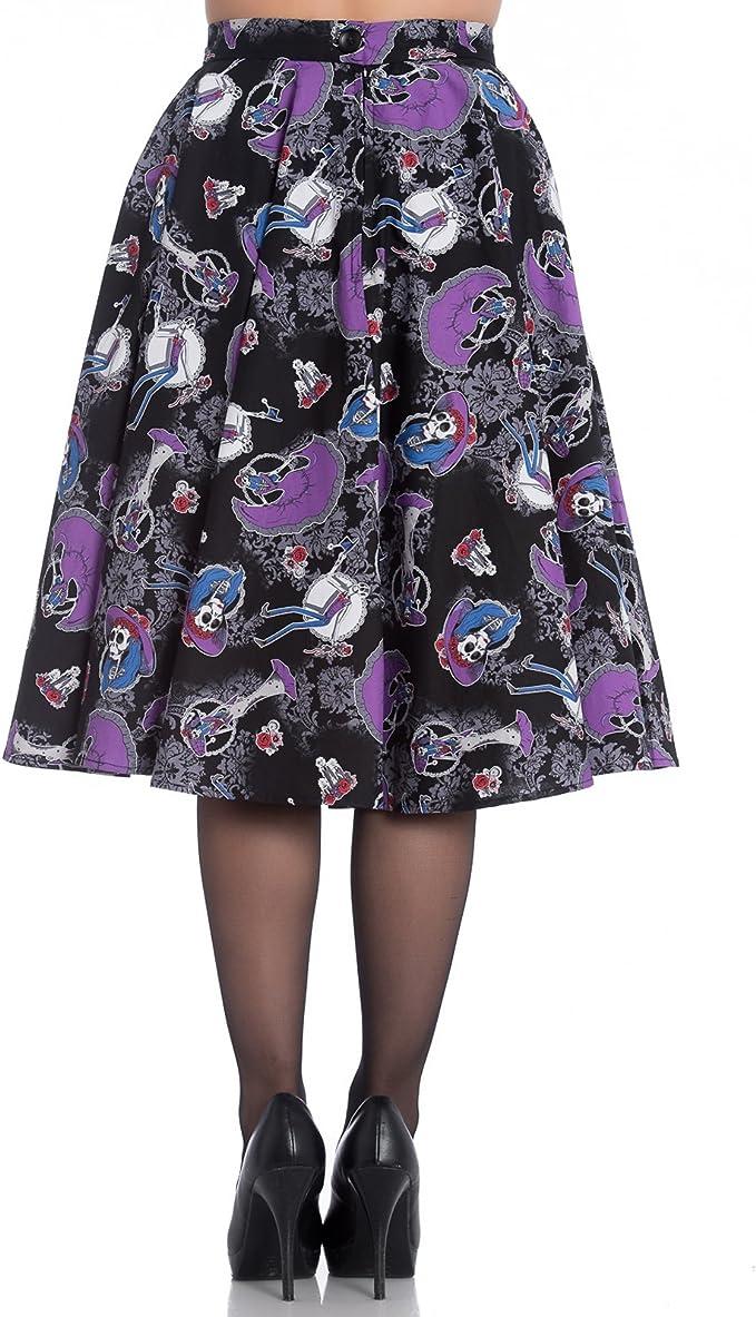 Hell Bunny Graciela Esqueleto Halloween Años 50 estilo falda ...
