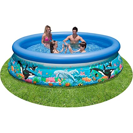 Intex Easy Set Up Inflatable Swimming Paddling Family Pool Overig 10 Foot x 30 Inch