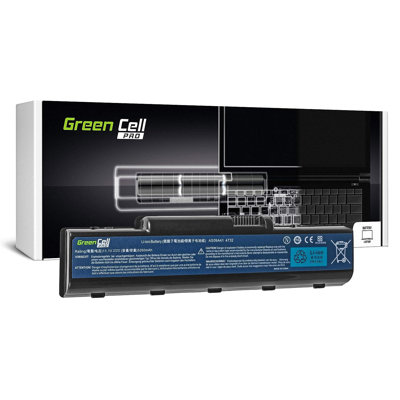Green Cell/® PRO Serie AS09A31 AS09A41 AS09A51 AS09A71 Bater/ía para Acer//eMachines//Packard Bell//Gateway Ordenador Las Celdas Originales Samsung SDI, 6 Celdas, 5200mAh, Negro