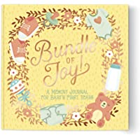 """Baby's First Years Guided Journal by Studio Oh! - Bundle of Joy - 9"""" x 9"""" - Beautifully Illustrated Hardcover Journal…"""