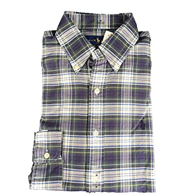 ee42fcaa Image Unavailable. Image not available for. Color: Polo Ralph Lauren Men's  Long Sleeve Oxford Button Down Shirt-EverGreen ...