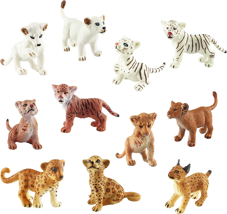 Elephant plush Safari finger puppet Lion plush toy Busy box Mini tin box Miniature kit Kid travel kit Altoid tin toy Jungle