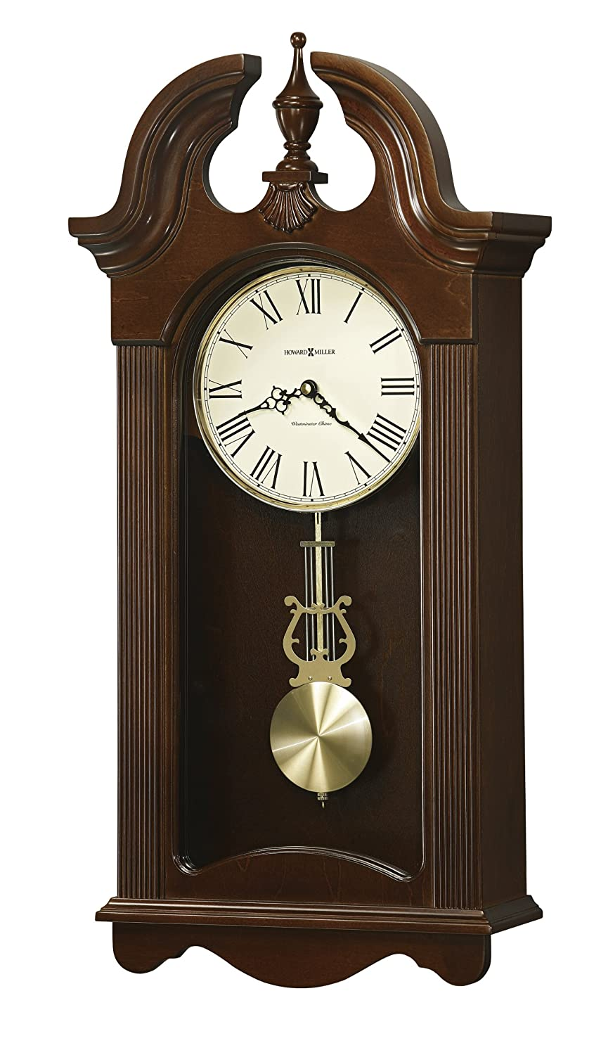 Amazon howard miller malia wall clock with westminster chime amazon howard miller malia wall clock with westminster chime cherry finish quartz movement home kitchen amipublicfo Choice Image
