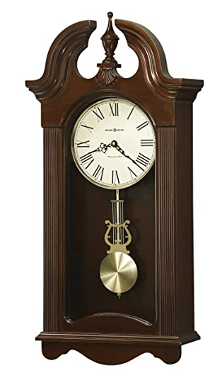 Howard Miller Malia Wall Clock With Westminster Chime, Cherry Finish,  Quartz Movement
