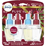 Febreze One Plug In Air Freshener Scented Oil Refill, Odor Eliminator, Fresh Twist Cranberry, 2 Count