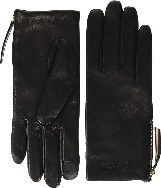 Tommy Jeans Damen Tjw Basic Flag Rib Gloves Handschuhe