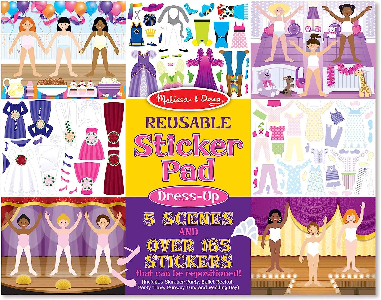 Melissa & Doug Reusable Sticker Pad: Dress-Up - 165+ Reusable Stickers