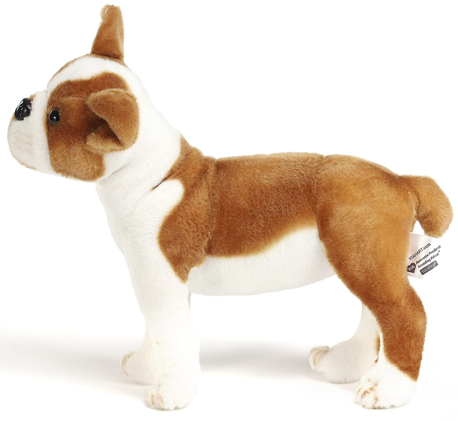 amazoncom baldric the boston terrier boxer   inch large dog  - amazoncom baldric the boston terrier boxer   inch large dog stuffedanimal plush  by tiger tale toys toys  games