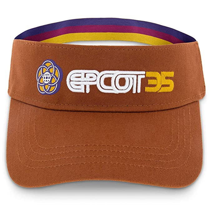 4d0a956ef Amazon.com: Disney Parks Epcot 35th Anniversary Brown Adult Visor ...