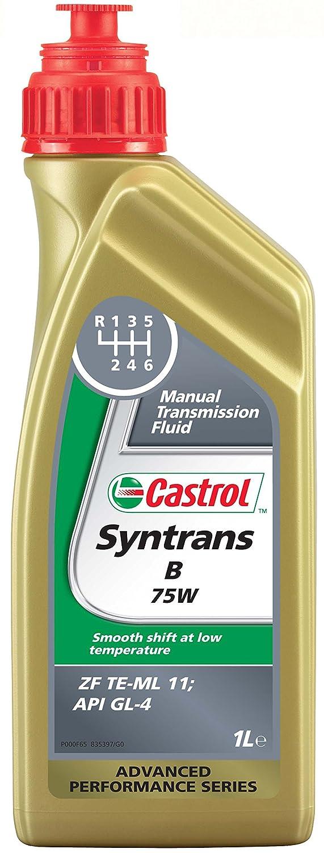 Castrol 21937 Syntrans B Fluido trasmissione manuale, 75W, 1 litro Deutsche Castrol Vertriebsgesellschaft mbH