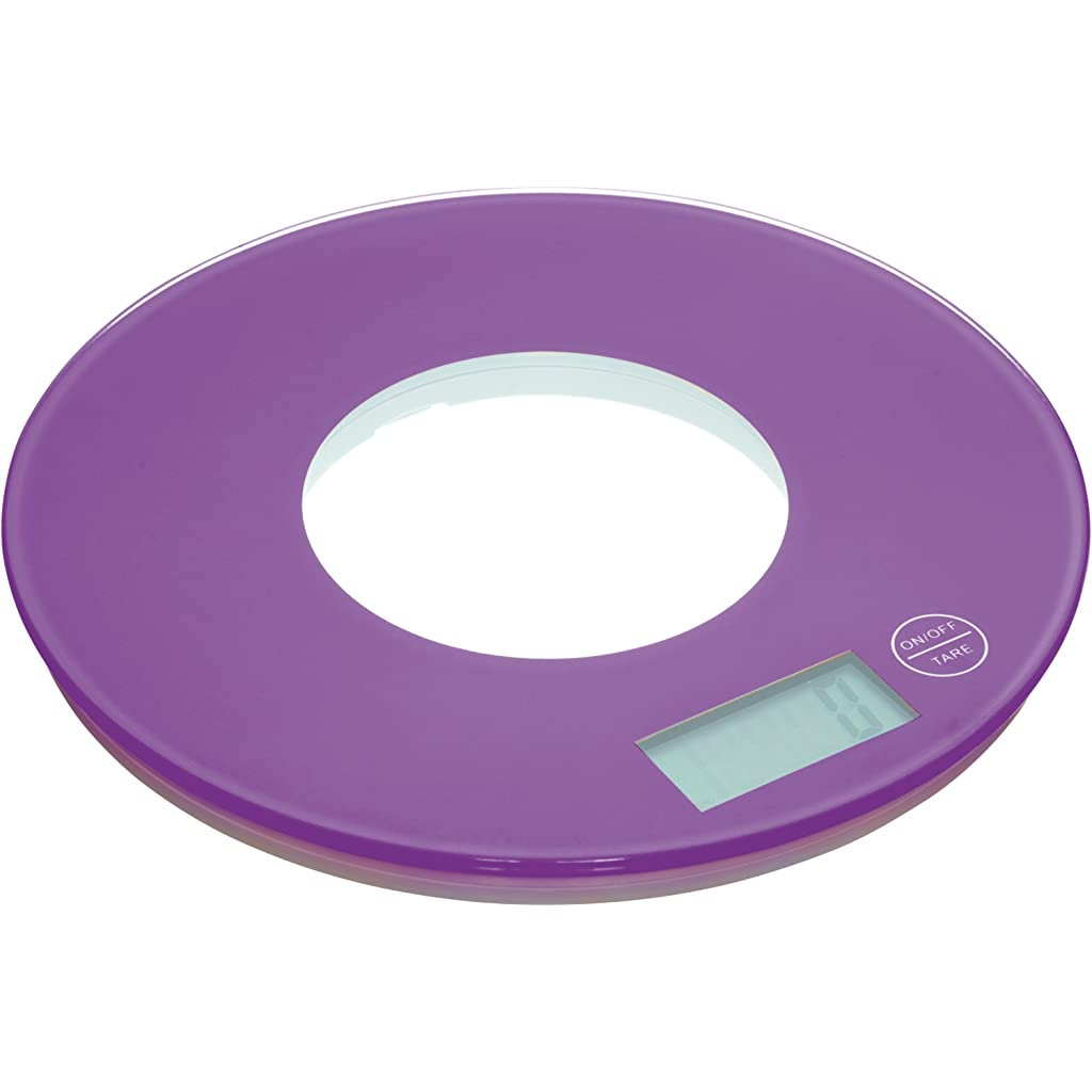 Kitchen Craft Colourworks Purple Electronic Kitchen Scales