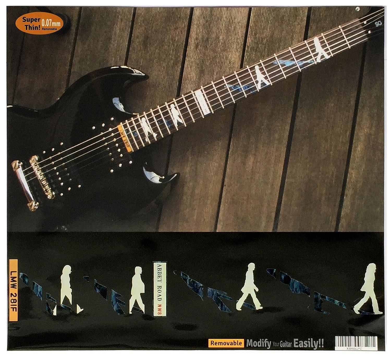 Diapasón marcadores Inlay adhesivo adhesivos para guitarra - Abbey Road/The Beatles: Amazon.es: Instrumentos musicales