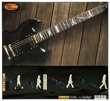 Diapasón marcadores Inlay adhesivo adhesivos para guitarra – Abbey Road/The Beatles