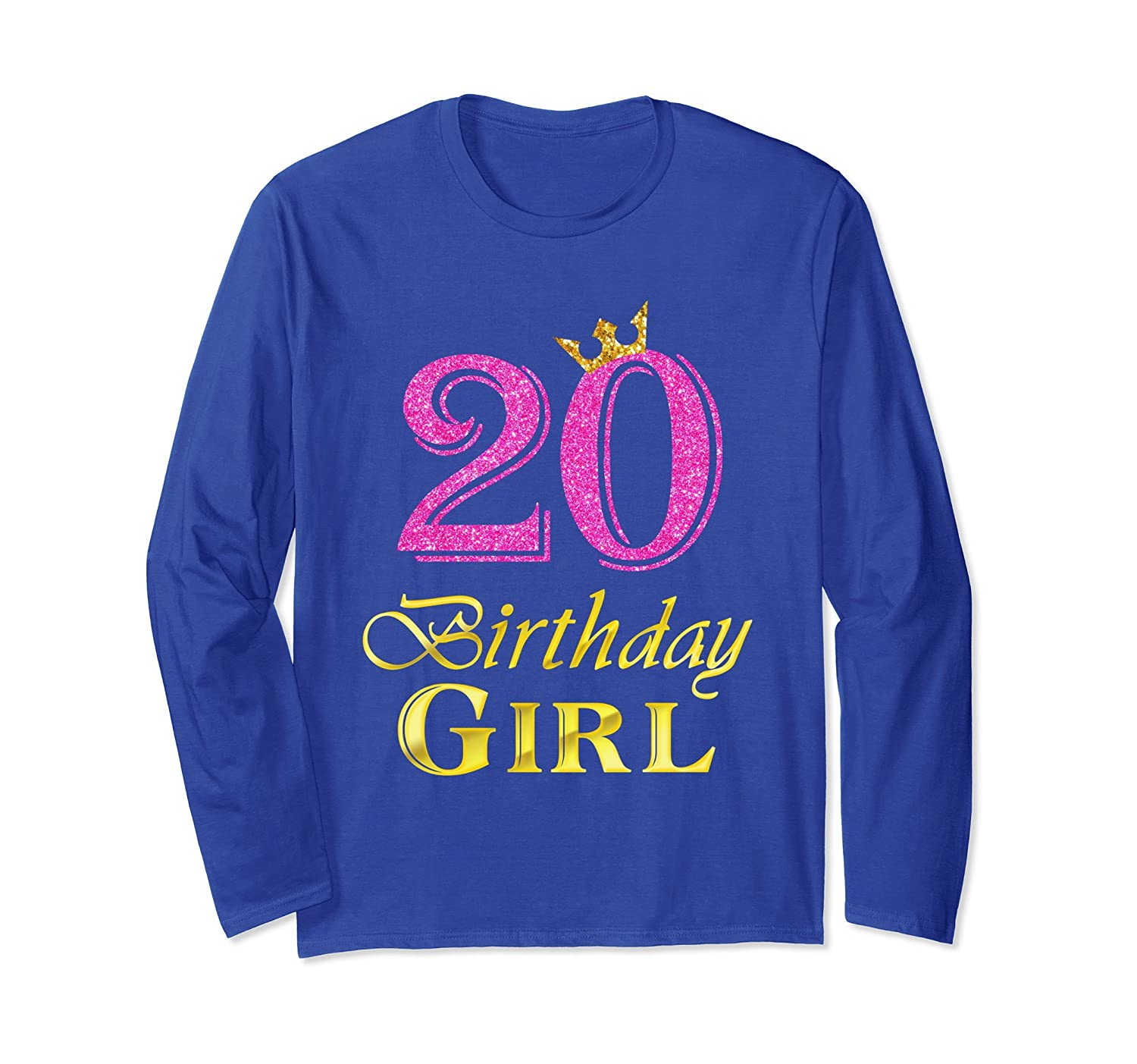 20th Birthday Girl Princess Shirt 20 Years Old 20th Gift-alottee gift