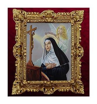 Lnxp Bild Mit Rahmen Gemälde Madonna Santa Rita Da Cascia Ikonen