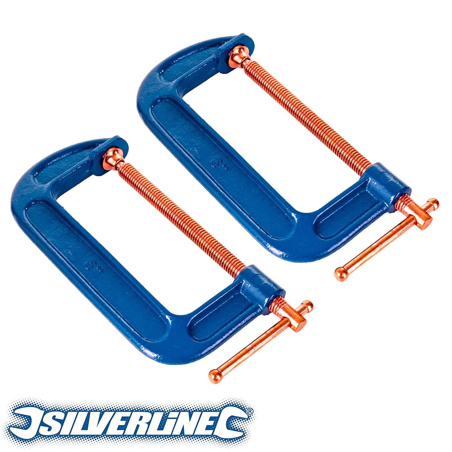 4x Large 150mm//6 Reinforced Cast Iron G Clamps
