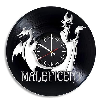 Maleficent art Vinyl Record Wall Clock Handmade Original Gift Unique Design Decor Home
