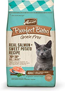 product image for Merrick Purrfect Bistro Grain Free Real Salmon Adult Dry Cat Food