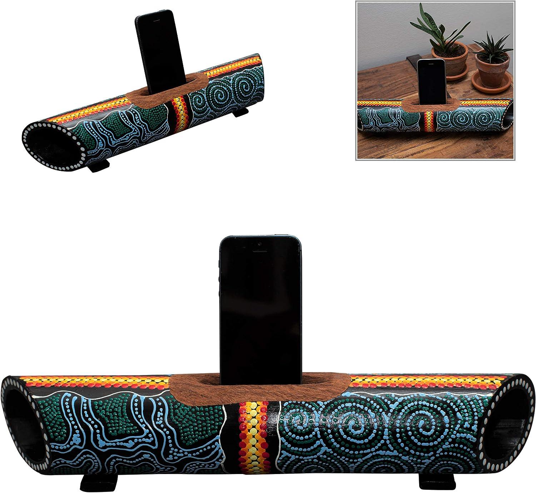Australian Treasures Smartphone Altoparlante /& Supporto Aboriginal Style