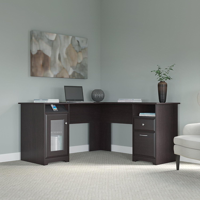 l shaped desks for home office. cabot l shaped desk in espresso oak desks for home office e