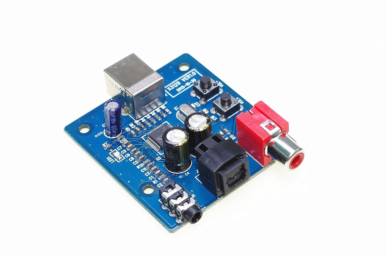 Amazon.com: SMAKN® cm6206 tarjeta de sonido USB DAC Junta ...