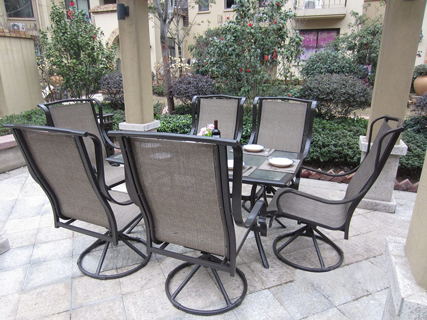 outdoors set home lowes sets styles piece dining patio shop furniture com pl biscayne metal frame at