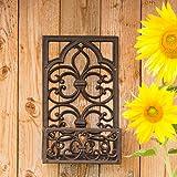schöner Balkonkasten im viktorianischen Stil Blumenkasten in antikbraun