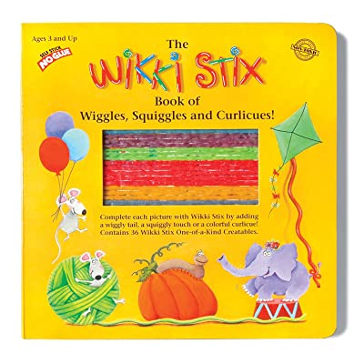 WikkiStix Book of Wiggles, Squiggles, & Curlicues, Multi, (Model: 905): Toys & Games