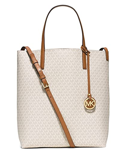 1a03ae5e37a4 Amazon.com: MICHAEL KORS Hayley Large Tote Bag - VANILLA/ACORN: Shoes
