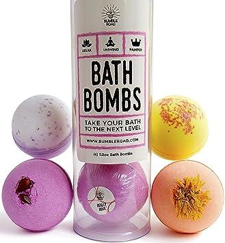 Amazon.com : Luxury Bath Bombs (Set of 4) - Natural Bath Bombs ...
