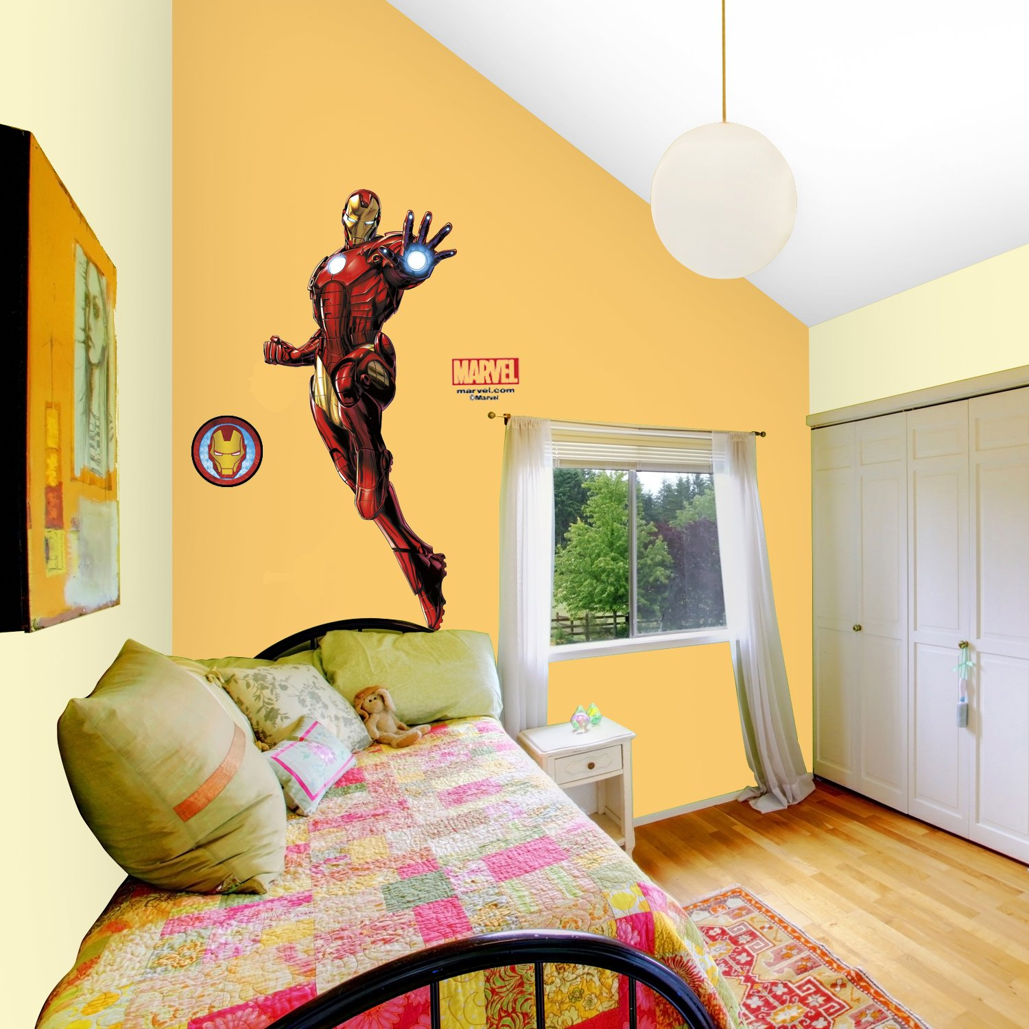 Asian Paints Nilaya Iron Man Giant Wall Sticker with Glow: Amazon.in ...