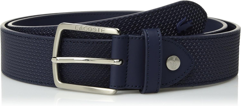 Lacoste Mens Classic Logo Embossed Buckle Belt