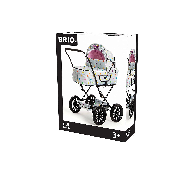 Grau mit Punkten Puppenwagen Combi Brio GmbH Brio 24891359 Puppenwagen