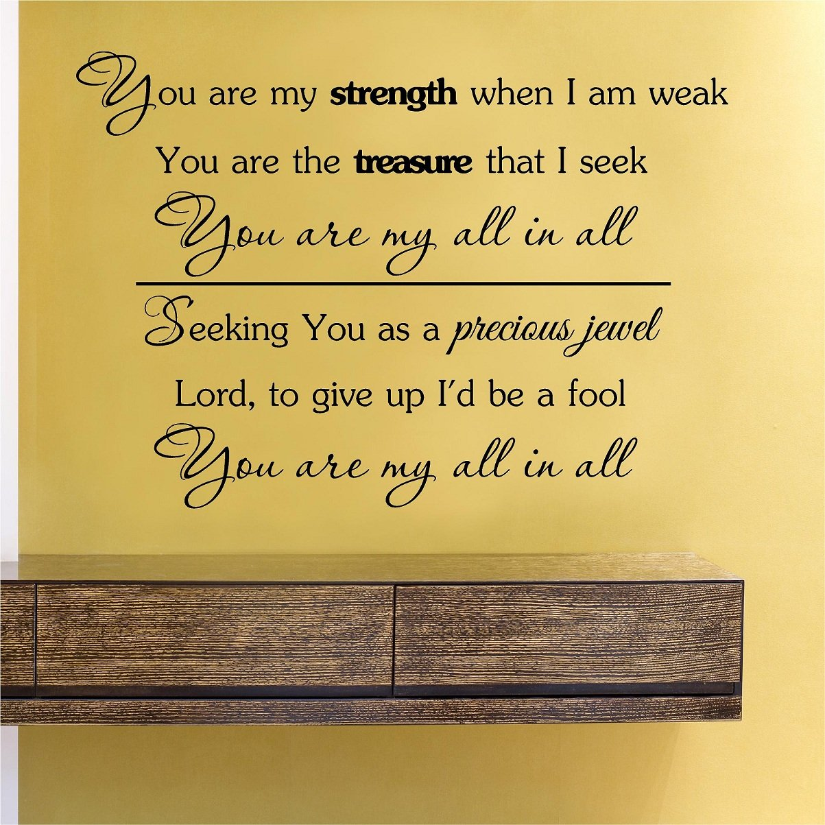 Amazoncom You Are My Strength When I Am Weak You Are The Treasure