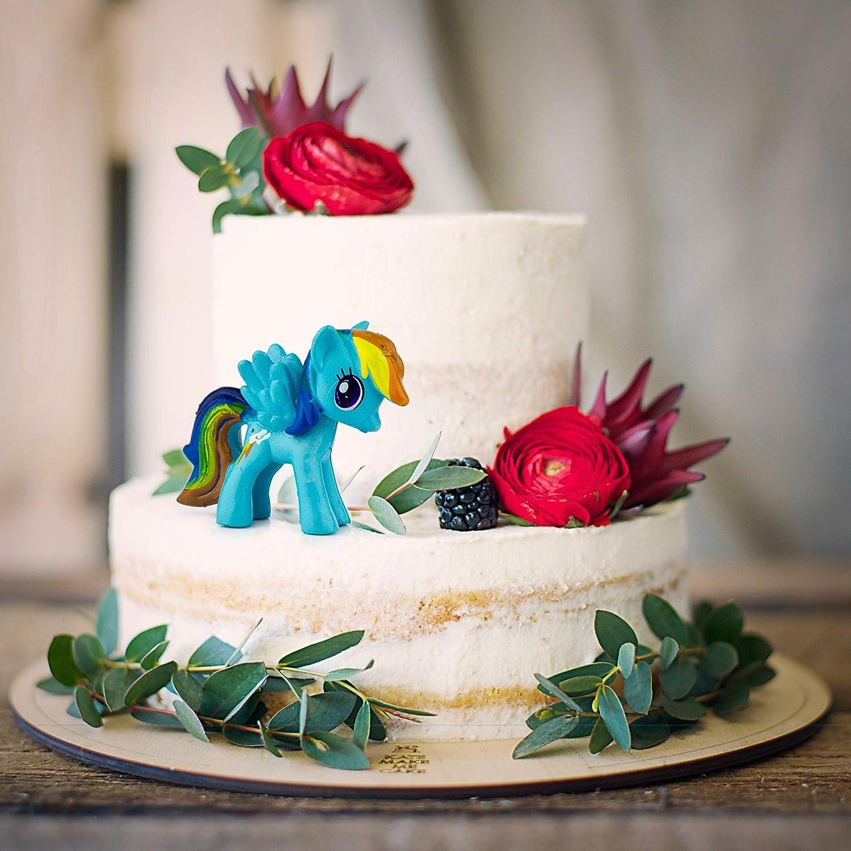 par Outland: D/écoration de f/ête danniversaire pour enfants 12 mignon Poney D/écorations Little Pony pour g/âteaux figurines de poney pour filles et gar/çons color/é cheval Jouets pour cupcakes