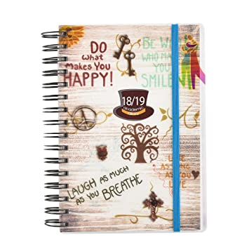 673196bd9e9f 2018-2019 diary One Day to Page A5 Spiral Mid Year Student Teacher Diary