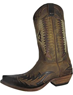 4bf0b49d2dd Sendra 7106 Men Cowboy Boots Brown Leather Real Phyton Skin Eagle ...