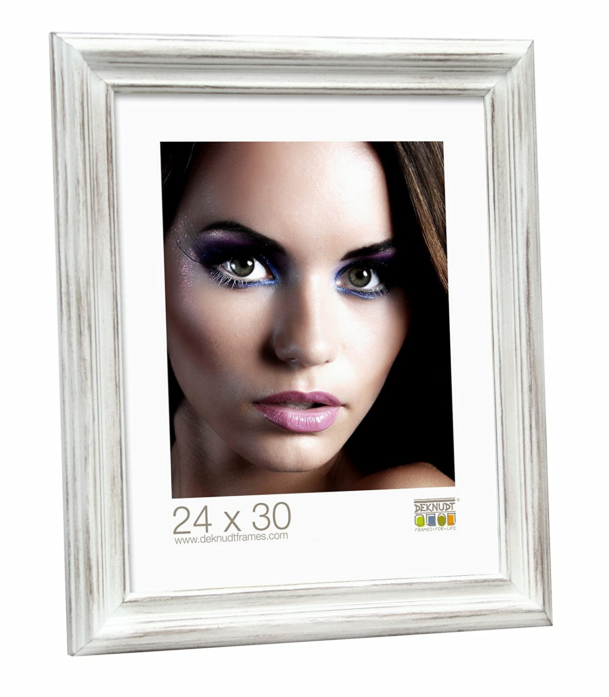 Deknudt Frames S41XS1 Style Classique Cadre Photo Ré sine Peint Blanc 10 x 15 cm S41XS1-10.0X15.0